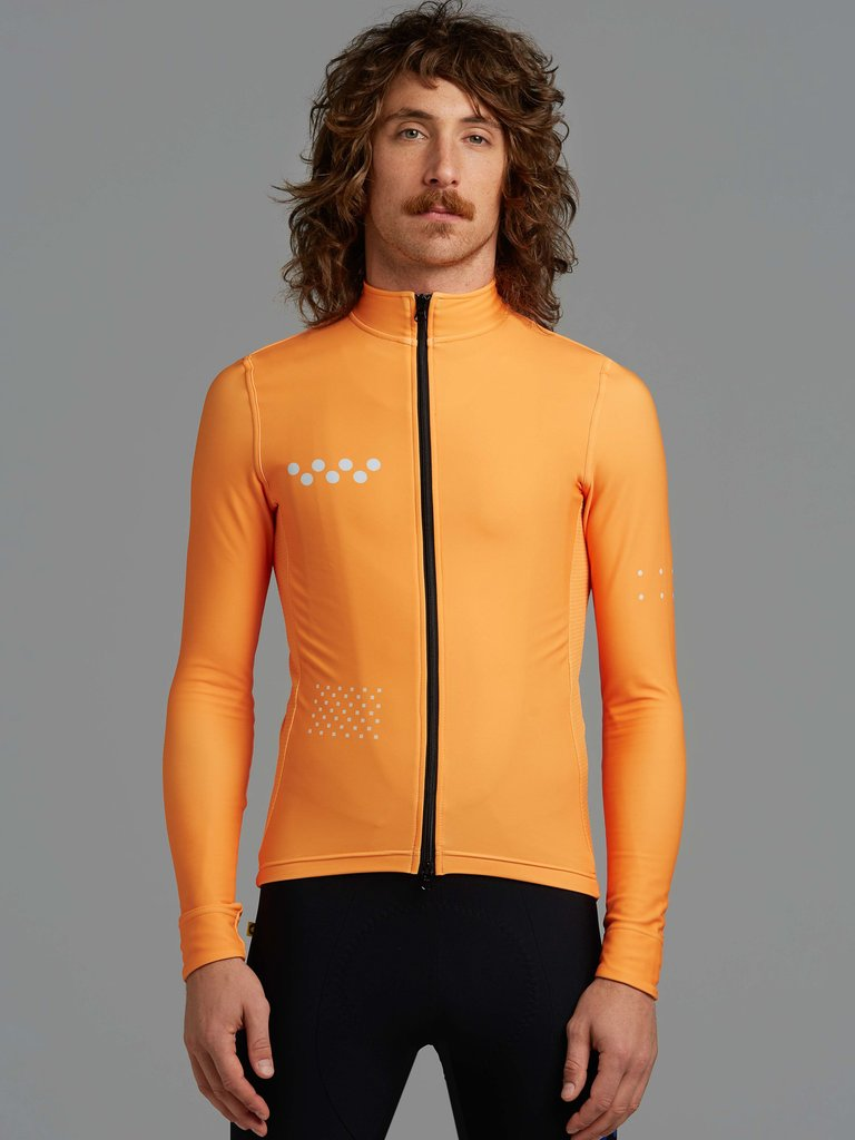 Chill-Block-Core-thermal-fleece-long-sleeve-Cycling-Jersey-Road-mtb-cycling-Clothing-pro-fit-cut 5