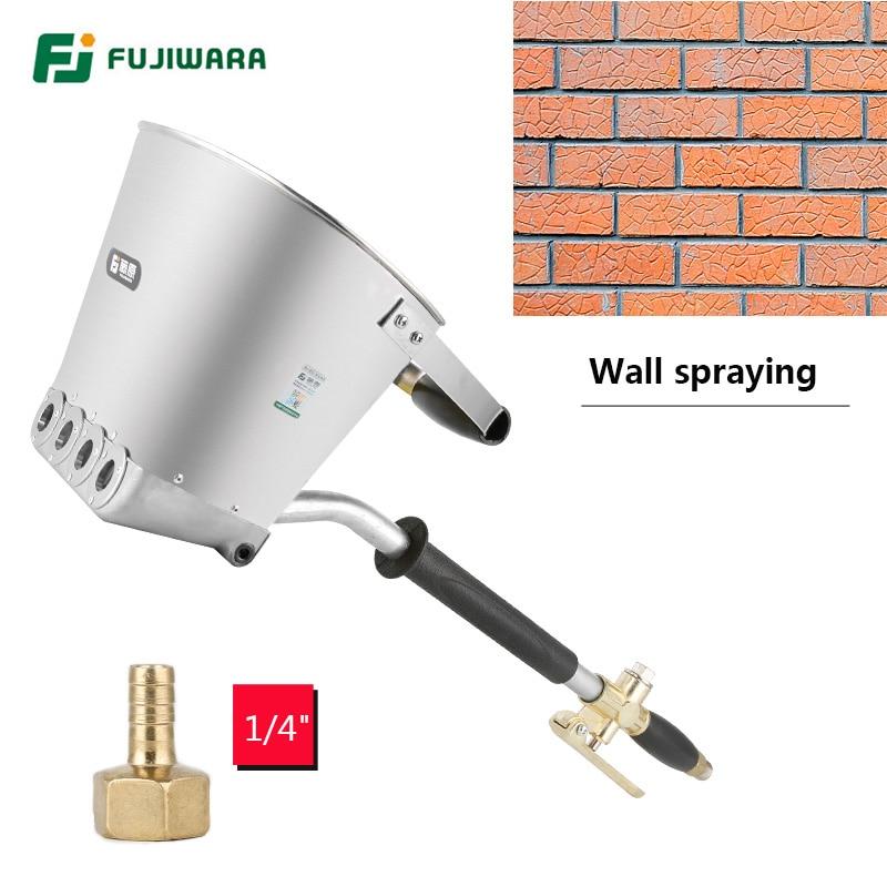 FUJIWARA 3 5L Pneumatic Cement Mortar Spray Gun Wall Rapid Blasting Mortar Cement Wall Machine Wall A