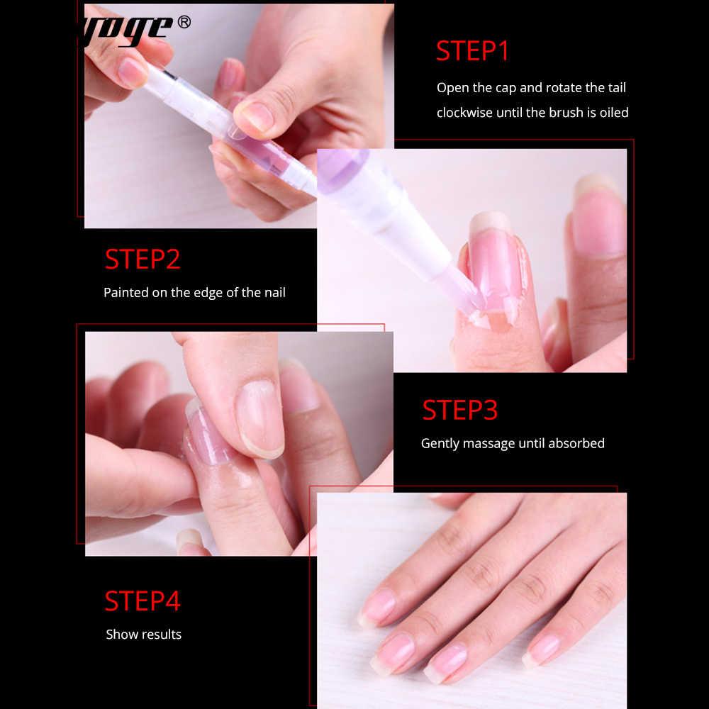 Yayoge tratamiento de uñas aceite nutritivo pluma tratamiento de uñas aceite revitalizador de cutícula previene el sabor de lirio de 10 ml
