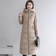 スタンド襟 2019 高品質暖かい冬のジャケットの女性生き抜く冬ジャケットレディース女性スノーウエアコートロングパーカー