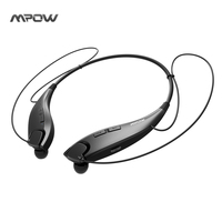 Mpow Jaws Wireless Bluetooth 4 1 Stereo Headset Universal Crystal Sound Light Necklace Handsfree Stereo Headset