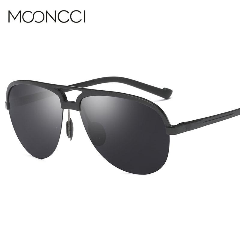 MOONCCI Retro Kacamata Pria Terpolarisasi Aluminium Keren pria - Aksesori pakaian - Foto 1