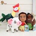 4 pçs/set Princesa 15-30 cm Pua Moana Boneca de Pelúcia Rosa Pepa Pig Brinquedos de Pelúcia Presentes para as crianças. Entrega gratuita