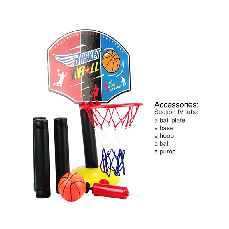 Kids Children Miniature Basketball Hoops Set Stands Adjustable with Inflator 115 cm Height Outdoor Fun & Sports for Boys Toys