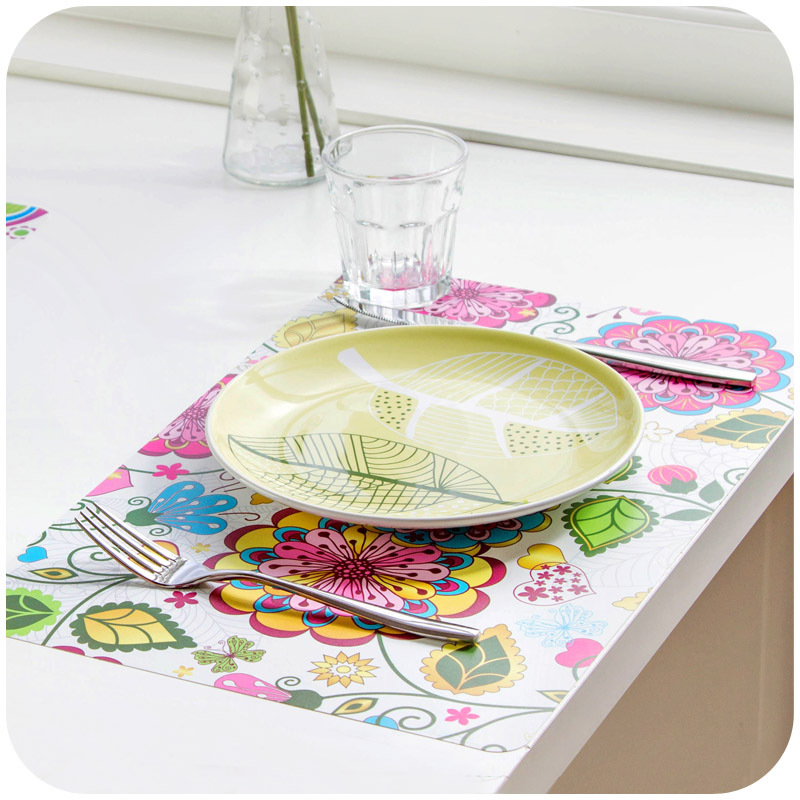 Vanzlife korean fashion printing table mats pp waterproof for Table 85 korean