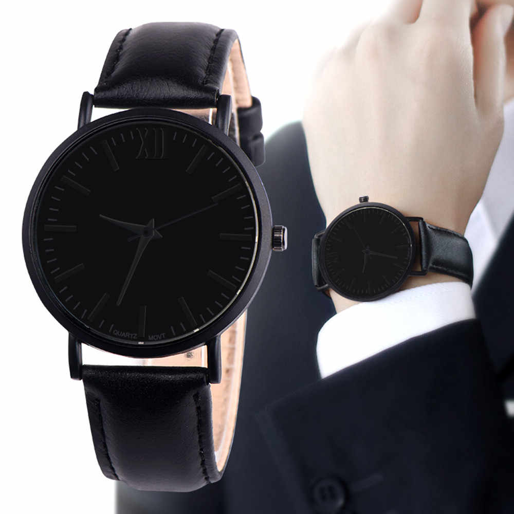 Dropshipping Simple Style Dial Watch Men Leather Wristwatch Women Dress Fashion Quartz Movement Saat relogios masculino #D
