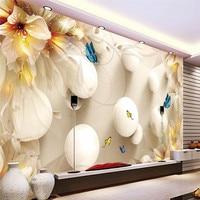 Beibehang PH росписи для лилии бабочка мяч murales де сравнению обои hotel спальной комнаты современный Задний план большая картина Домашний Декор