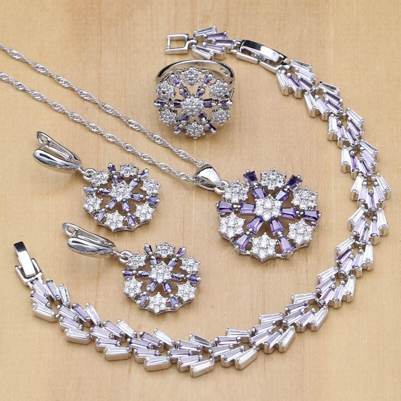 Flower Shaped Silver 925...