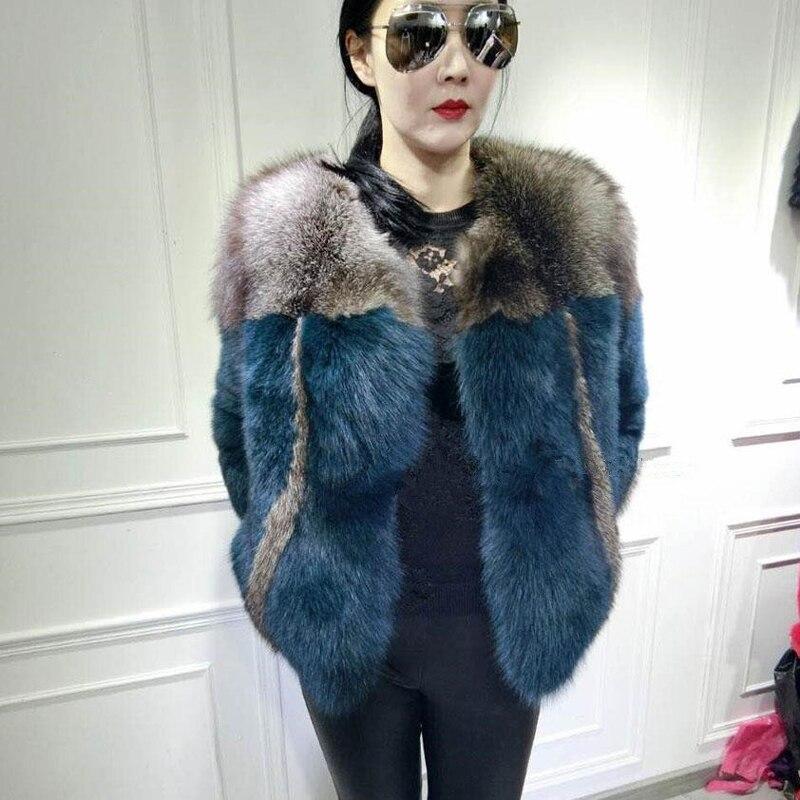 2018 autunno e inverno nuovo importato argento pelliccia di volpe cappotto di pelliccia femminile breve sezione Sottile sottile anti-stagione di liquidazione di modo