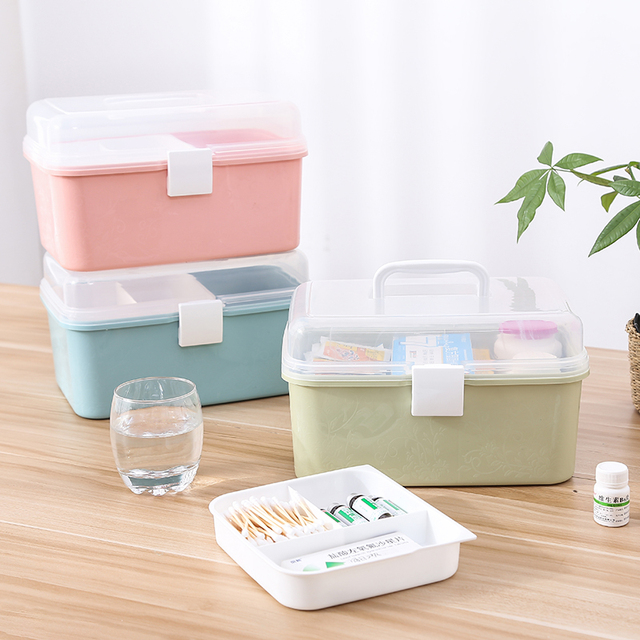 Family home child baby medical storage box, medicine large first aid kit,  chest