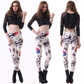 Wholesale Women Fitness Legging High Quality Korea Flag Leggins Digital Printing Leggings World Cup Punk Pants