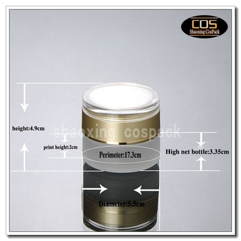 50pcs 30g empty glass jar, clear frosted glass cosmetic jar, cream glass container,1 ounce eye cream jar with gold cap