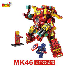 Bevle SY MK46 Super Heroes Mecha Ares Iron Man Hulkbusters Building Block Best Toys Compatible with Lepin