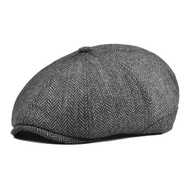 3f56cd7c664bd VOBOOM Women Men Tweed Woolen Newsboy Cap Herringbone 8 Panel Country Baker  Boy Ivy Flat Cap Gray Black Beret Hats Boina 111