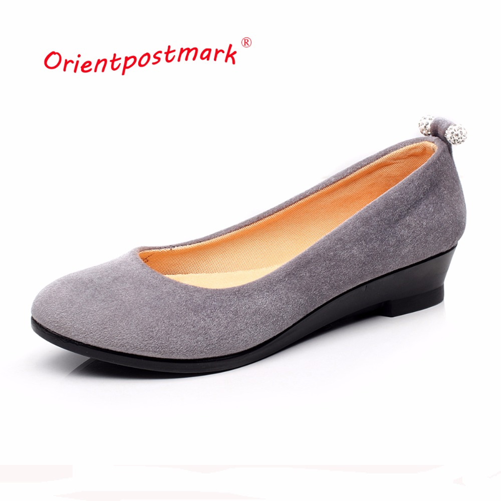 Women Shoes Women Ballet Shoes for Work Women's Pregnant Wedges Shoes Oversize Boat Shoes Cloth Wedges Sweet Loafers Slip On women shoes women ballet flats shoes for work flats sweet loafers slip on women s pregnant flat shoes oversize boat shoes d35m25