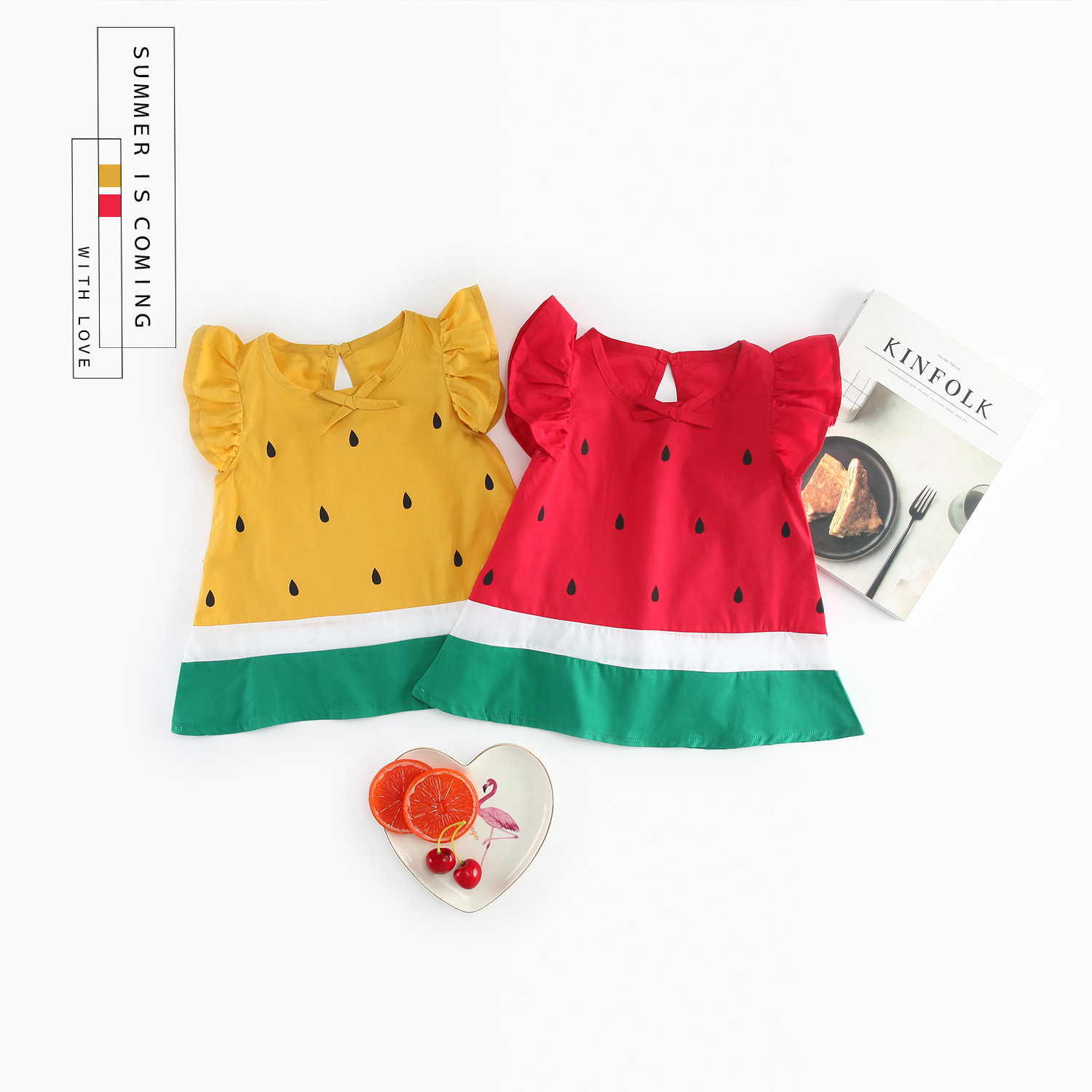 78504d69d summer baby girls dress cute watermelon dress for toddler kids baby girls A line  dress children clothes 9M 3T-in Dresses from Mother & Kids on ...