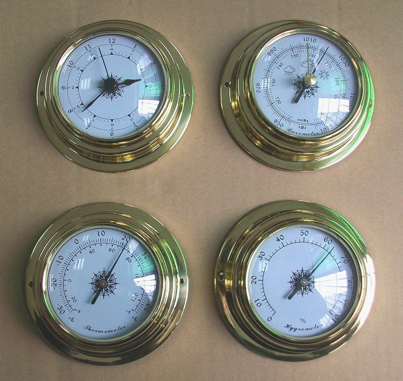 Hot selling 4 pcs/set Thermometer Hygrometer Barometer Watches Clock  Whole Set Weather Station whole set selling 16 folding mother