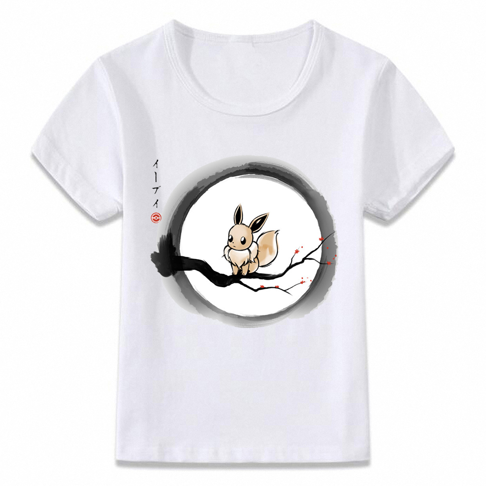 63851e9e7 Kids Clothes T Shirt Pokemon Under The Moon Eevee Psychic Children T-shirt  for Boys