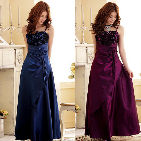 free shipping banquet party prom apparel floor length
