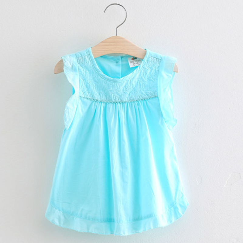 69b6ca3eec63 Toddler Dress Girl 2018 New Arrival Casual Embroidery Summer Dress For Girl  Sleeveless O-neck Simple Kids Clothes 2937W