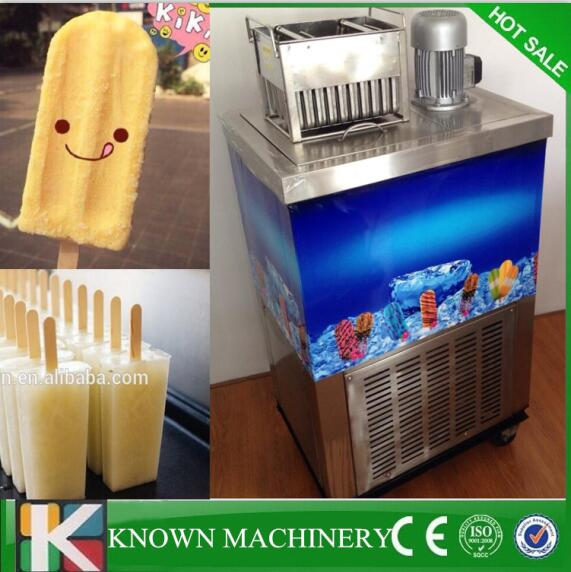 Commercial Stainless Steel Single Moulds Compressor Double Molds Economic Style Popsicle Machine 2000pcs/h By Sea