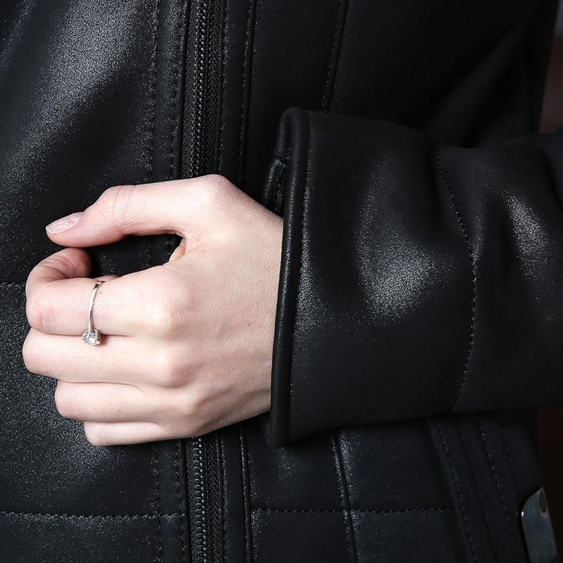 Mode Et Outwear Fourrure Zipper Femme En Manteaux Impression Complet Black 3d Capuche Long Jackests Femmes De Chaud Manches À Cuir Tops Hiver Manteau Col FIqTFrwx1