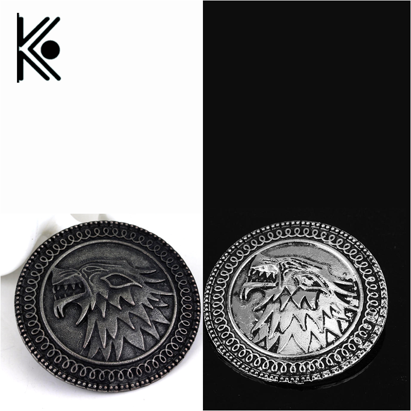 free shipping game of thrones brooch song of ice and fire vintage targaryen dragon badge pin for men and women wholesale
