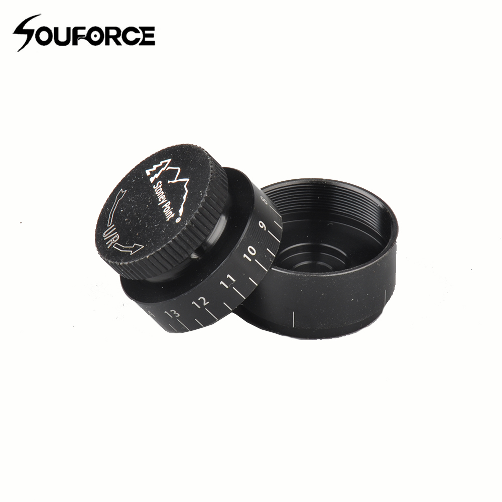 Black Interchangeable Stoney Point Target Knob K-1L In Place Scope's Dust Covers For Rifle Scopes Finger Adjustable Turrets
