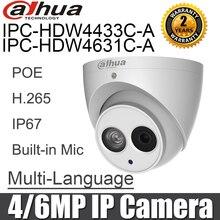 Dahua IPC HDW4631C A IPC HDW4433C A 4MP 6MP Macchina Fotografica del IP di POE Inglese built in Mic night vision cctv di sicurezza telecamera di rete macchina fotografica