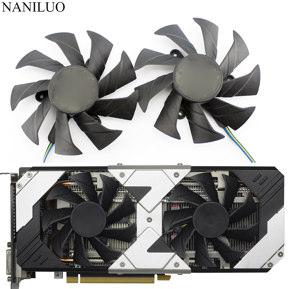 New 85mm DC 12V 4Pin VGA Cooler Fan Replacement For Zotac GTX1060 6Gb OC GTX 1060 3GB Graphics Video Card Cooling Fans image