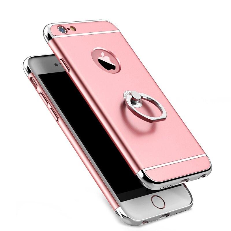 Para iphone 6 6s case fundas coque para iphone 6 plus casos 3 en 1 cubierta de p
