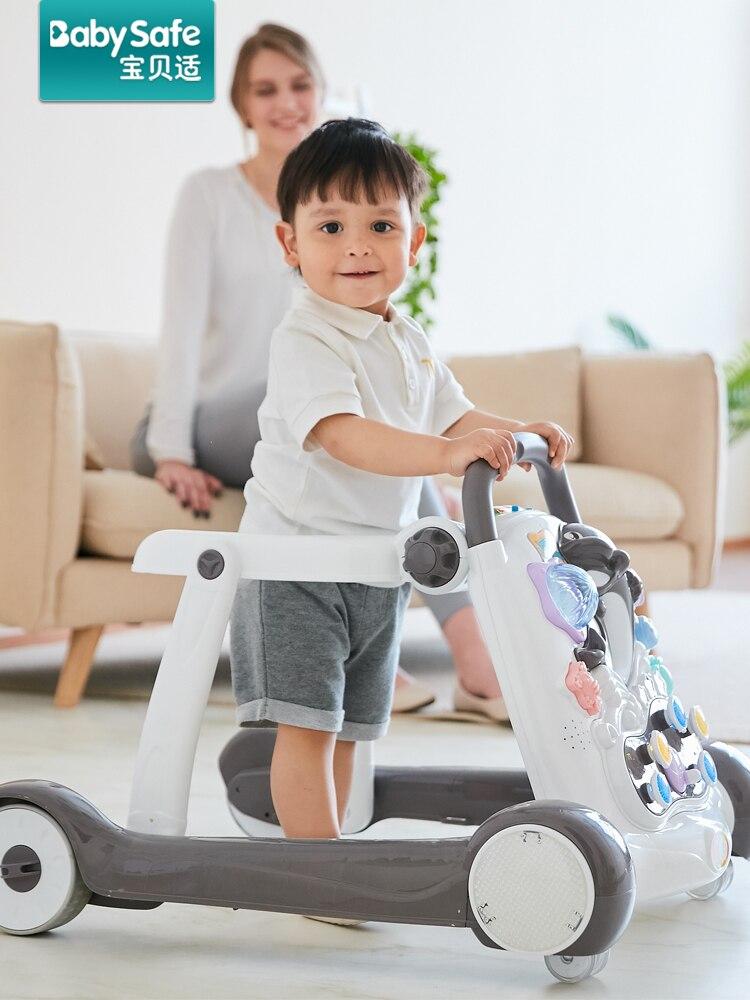 Trotteur bébé anti-rouleau multi fonction ceinture musique bébé enfant marcheur