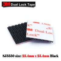 Free Shipping 1800pcs/lot 25.4mmx25mm 3M SJ3550 Black Die Cutting Dual Lock tape Type 250ITEMS
