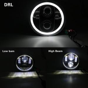 Image 1 - 5.75 polegada moto faróis led kit completo luzes de halo para noite haste ferro 883 dyna sportster 1200 indiano scout triumph