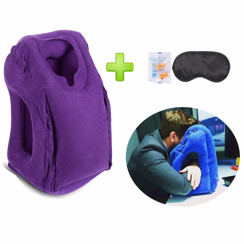 Inflatable Travel Pillow Neck Pillow For Airplanes Car