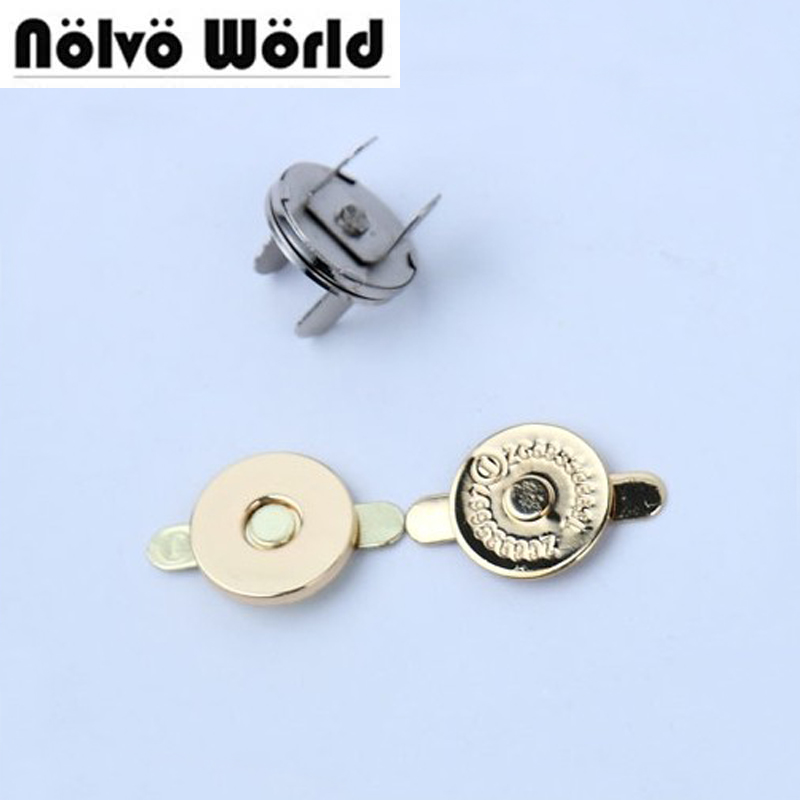 100sets 5 colors 18 2mm hung plating dish shape magnetic snap button clasp fastener for handbag