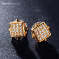 ANFASNI Wedding Jewelry Earrings Gold Plate Micro Inlay AAA Cubic Zirconia Earrings CER0103