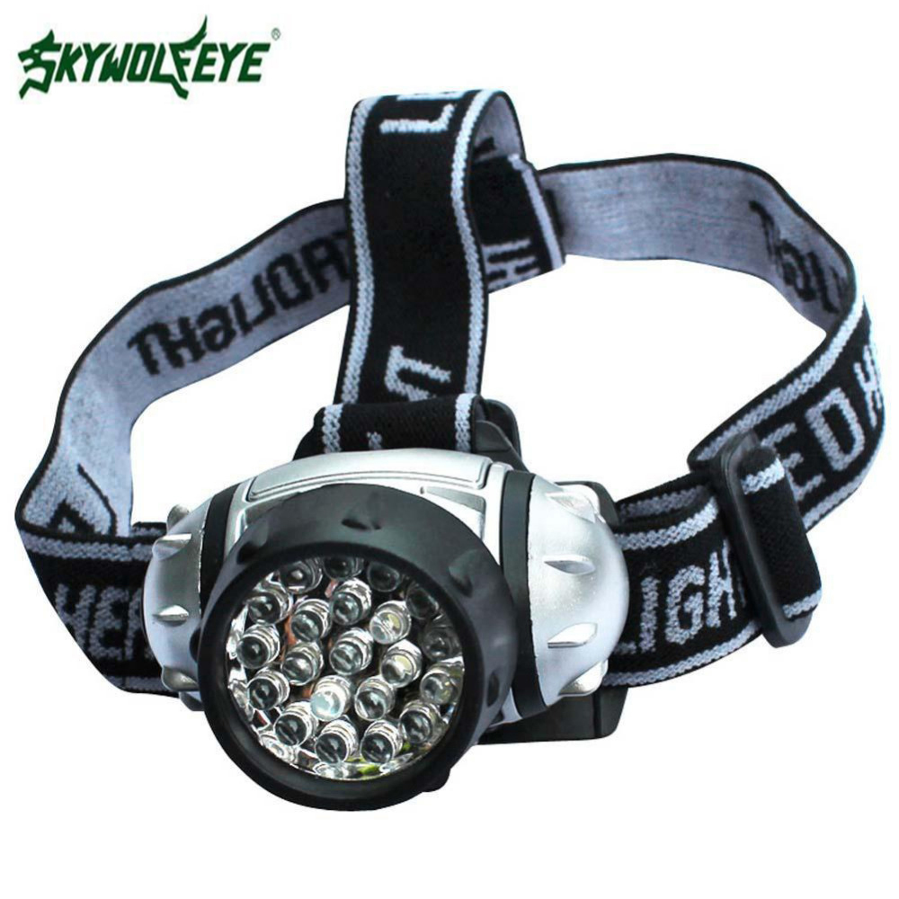 SKYWOLFEYE 21 LED 4 Modes Waterproof Head Torch Flashlight Bike Lamp Headlamp Headlight APJ