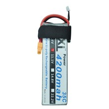 2pcs XXL 11.1V 4200MAH 3S 35C max 70C AKKU LiPo RC Battery For Trex 500 RC Toys Boats Cars Helicopter