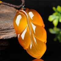 100% natural stone hand carved sweater chain necklace pendant jewelry gift free shipping/1