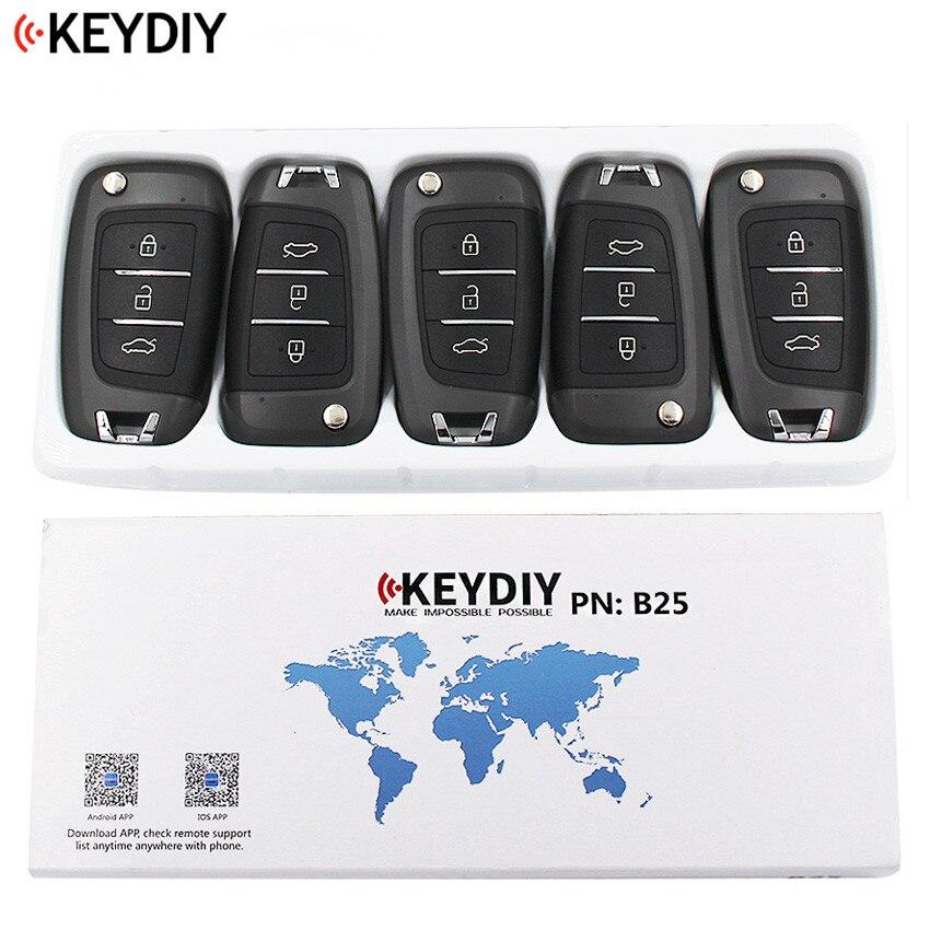 5 PCS LOT Original KEYDIY 3 Buttons B25 Universal Remote Control Key B Series for KD900