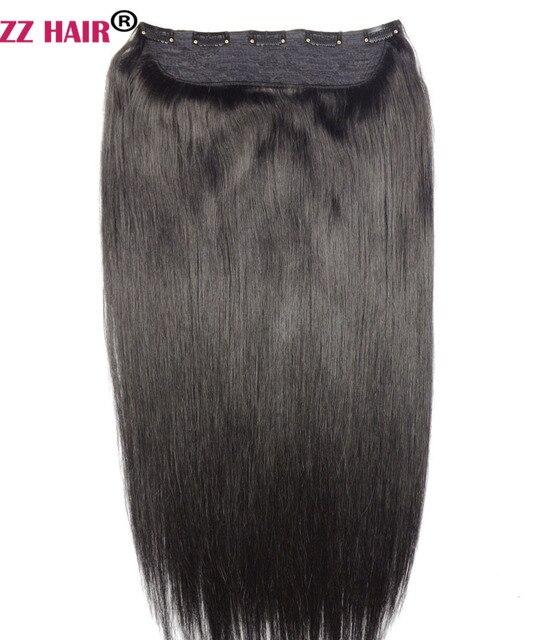 Zzhair 100g 200g 16 24 Machine Made Remy Hair One Piece Set 5 Clip