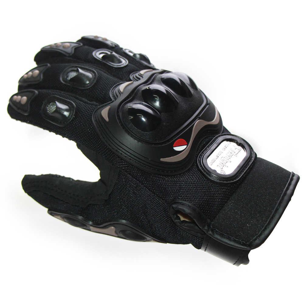 Luvas da motocicleta do outono verão respirável guantes moto luvas casca dura motosiklet eldiveni luva de dedo cheio proteção preto