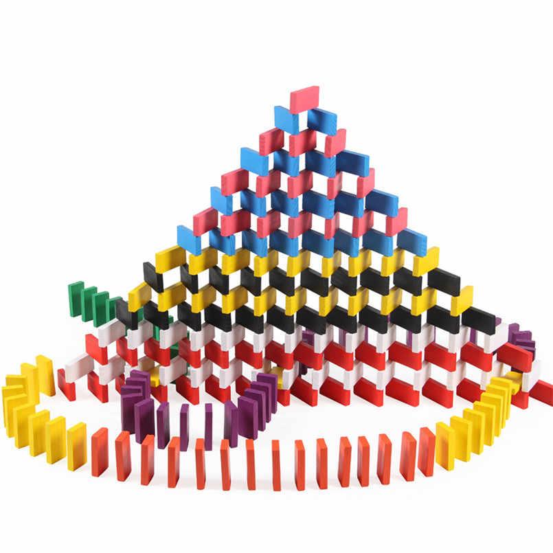 120 шт./компл., детское деревянное домино, аксессуары, игрушки, игрушки домино, интерактивная игра, орган блокирует обучение, детские игрушки