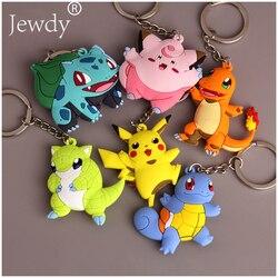 Pikachu keychain pocket monsters key holder pokemon go key ring pendant 3d mini charmander squirtle bulbasaur.jpg 250x250