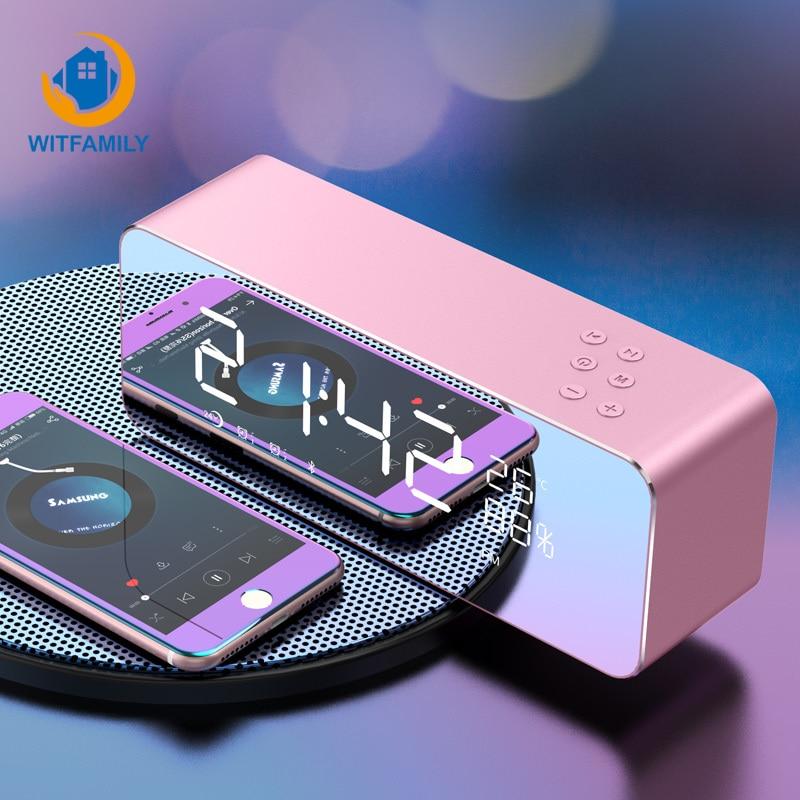 Moderne Bluetooth alarme horloge Numérique En Métal FM Radio LED Affichage despertador électronique Snooze Fonction montre table accueil