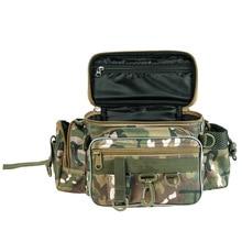 Wielofunkcyjna torba wędkarska s płótno przynęta saszetka biodrowa Messenger Pole pakiet 3 warstwa torba wędkarska sprzęt do karpia 40*23*7cm