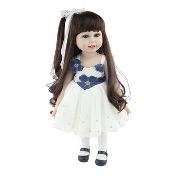 18'' American Baby Doll Handmade Soft Silicone Vinyl Reborn Dolls Realistic Toddler Doll Toys for Children Christmas Collection