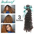 Brazilian Virgin Curly Hair Deep Wave 3 Bundles Unprocessed Kinky Curly Virgin Hair Weaves Brazilian Deep Wave Free Shipping