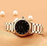 durable stainless steel watch strap watch ancient European minimalist fashion ladies watch with calendar watc giving gifts.
